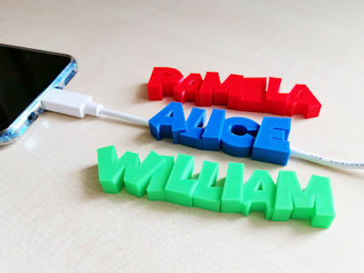 Custom 3D printed USB Cable accessories